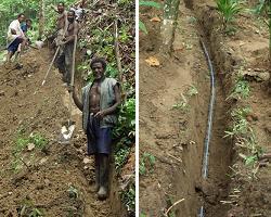 水道管の設置