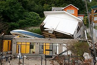 チリのディチャトという漁村での被害の一例