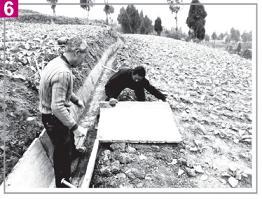 写真6、灌漑設備の建設